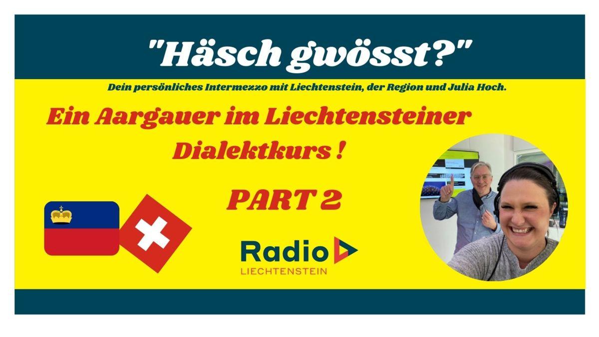 Ein Aargauer lernt Liechtensteiner Dialekt PART 2