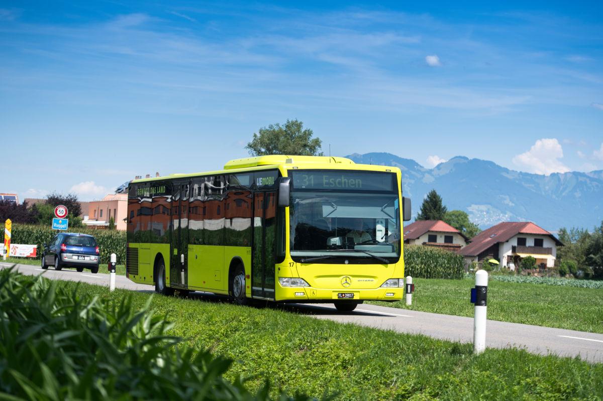 Limegreen oder Werbung auf den Liemobil-Bussen?