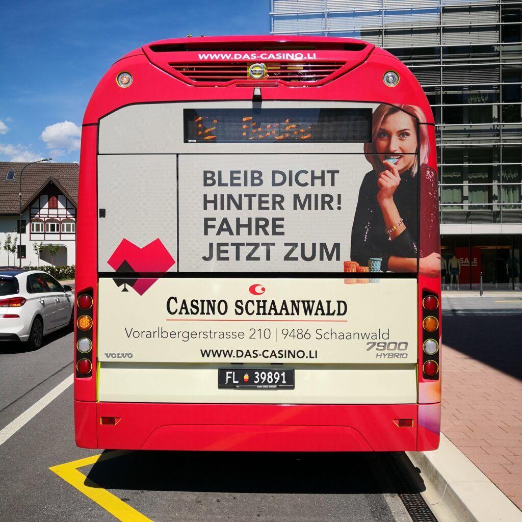 Casinowerbung auf Bussen sei nicht aufdringlich
