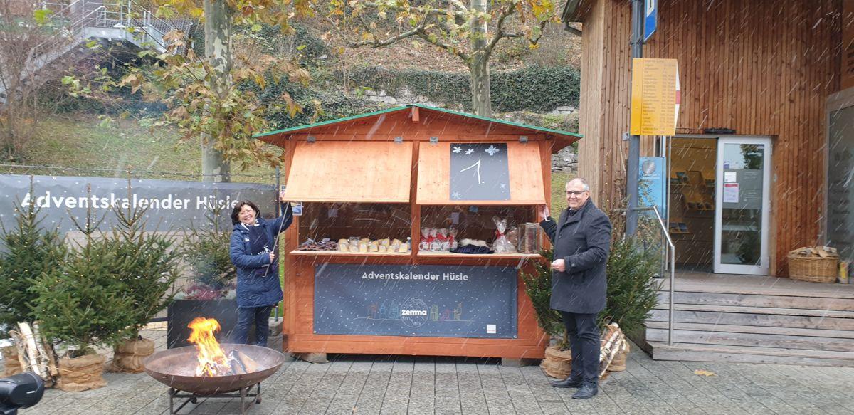 Lokale Produkte im Adventshüüsle Vaduz