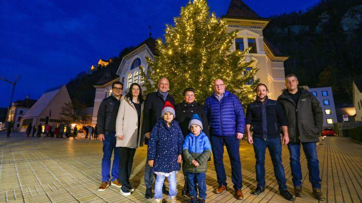 Der Weihnachtsbaum 2019 aus Ruggell